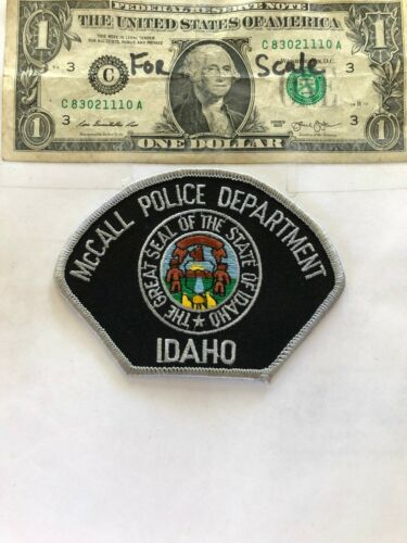 McCall Idaho Police Patch Un-sewn in great shape