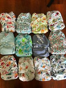 Bambooty Modern Cloth Nappies x 12 Glenwood Blacktown Area Preview