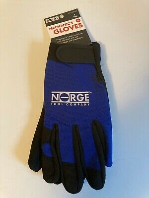 Norge Tool Mechanics Gloves Leather Syn Palm Fingers Spandex High Dexterity