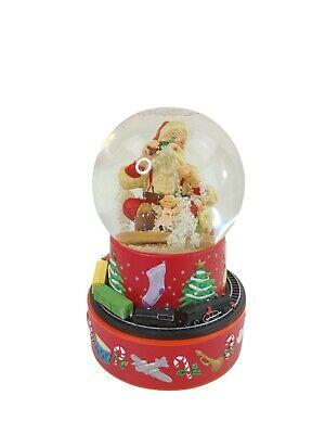 Coca-Cola Santa Musical Snow Globe with Moving Train 2001 Hallmark Christmas