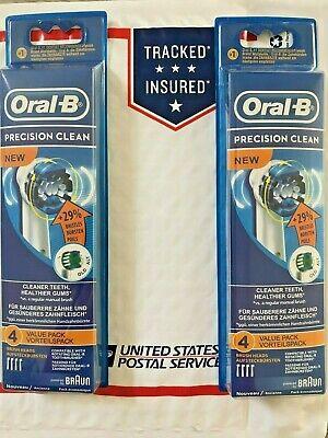 8 BRAUN ORAL B PRECISION CLEAN TOOTHBRUSH REPLACEMENT BRUSH HEADS Braun Oral B Replacement Brush