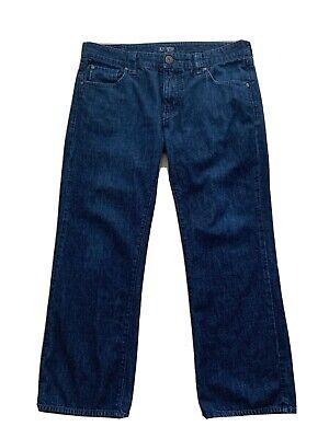 Armani AJ Jeans Mens Sz 34 X 28 Straight Leg Blue Denim 5-Pocket