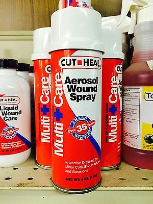 Cut Heal Aerosol Wound Spray Horse Dogs Multi Care Abrasions Minor Cuts 4oz ()