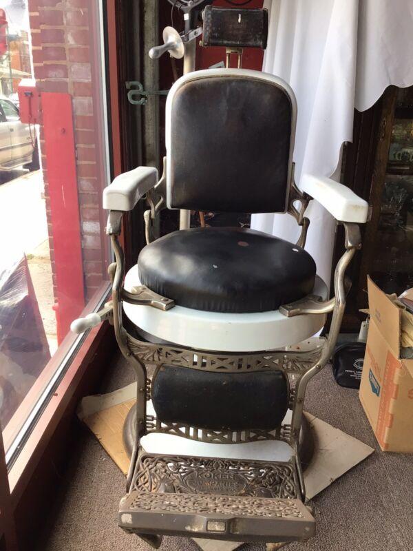 Koken Porcelain Barber Chair
