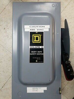 Square-d Hu362 60a Disconnect Safety Switch 600v Series F1