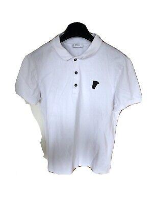 Mens Versace White Polo SMALL