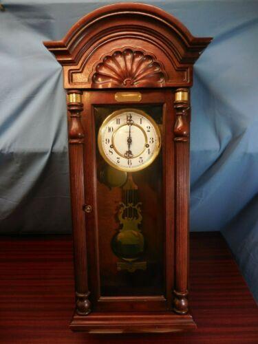 Howard Miller 612-221 MAHOGANY CHIMING KEY WINDING WALL CLOCK