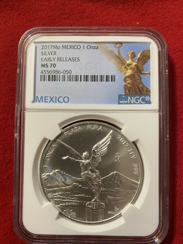 2017 Mexico 1 Onza Libertad NGC MS70 W/ Mexico Label