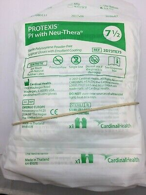 Cardinal Health Surgical Gloves Protexis Pi With Neu-thera Size 75 Lot Of 10