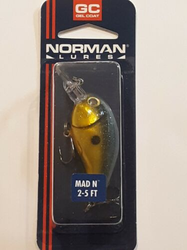 1 Norman Lures Mad N Gel Coat 2 1/2 3/8 Oz. Gold Sexy Shad - $8.99