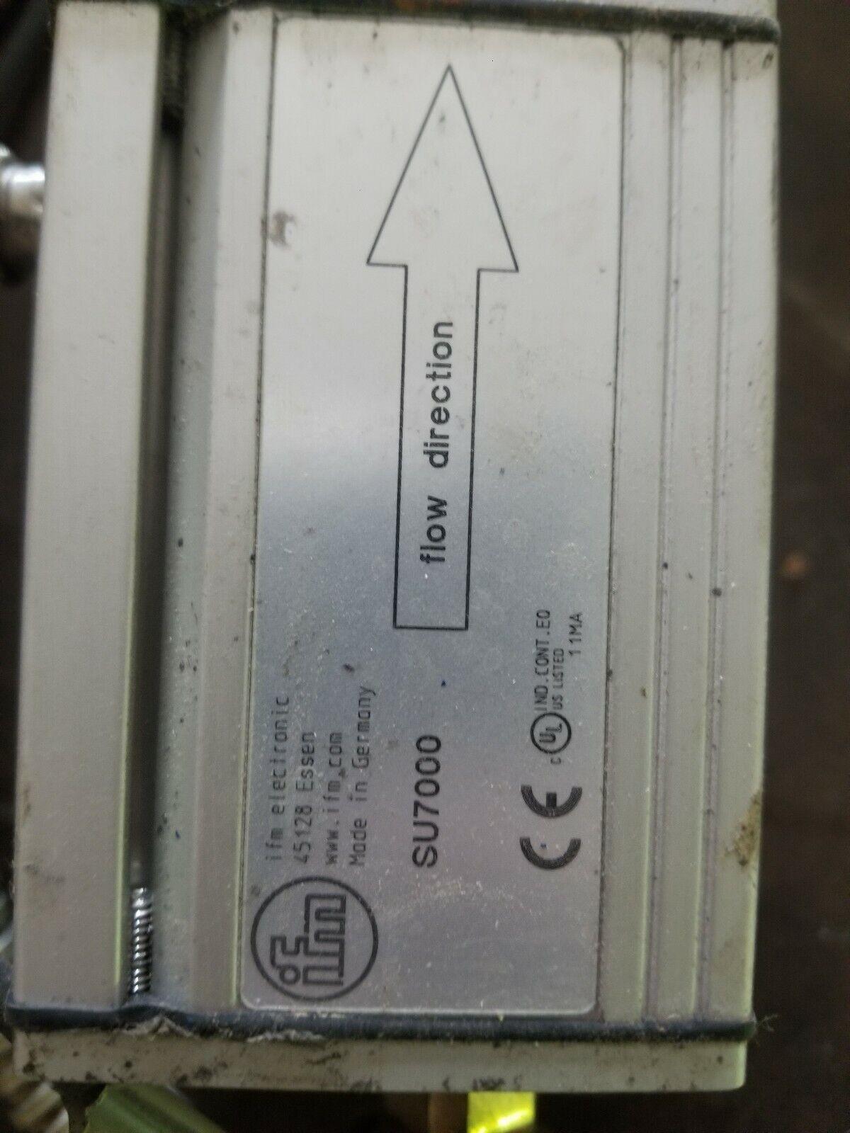 IFM SU7000 Ultrasonic Flow Meter, USED, Powers Up - $150.00
