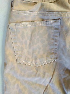 BELLA DAHL Light Camo Khaki Jeans Tan Print Size 28 USA Cotton Spandex Bella Cotton Jeans