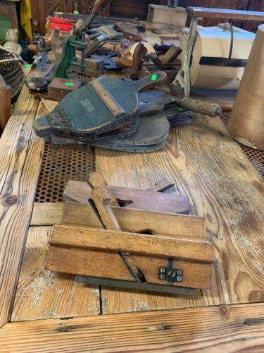 3x antike HandHobel Profilhobel Rillenhobel Schreiner Werkzeug Restaurierung