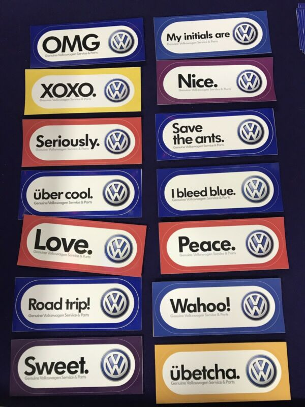 volkswagen official decals stickers vw