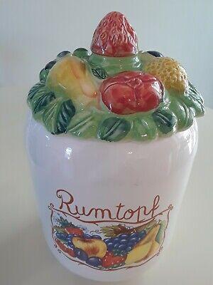 Vintage Rumtopf West Germany Pottery Crock