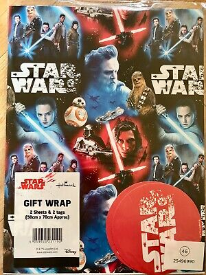 Disney Star Wars Birthday Wrapping Paper (Inc 2 Sheets & 2 Tags)