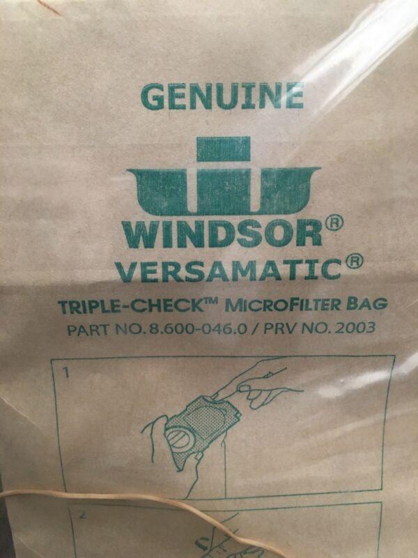 Genuine Windsor Versamatic #8.600-046.0 Filter Vacuum Bag