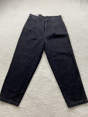 SECOND LAYER UPSCALE LUXURY CASUAL BAGGY PLEATED JEANS - RARE - SIZE L - READ