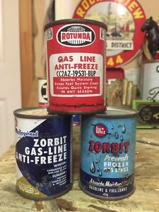 Gas Line Antifreeze tins