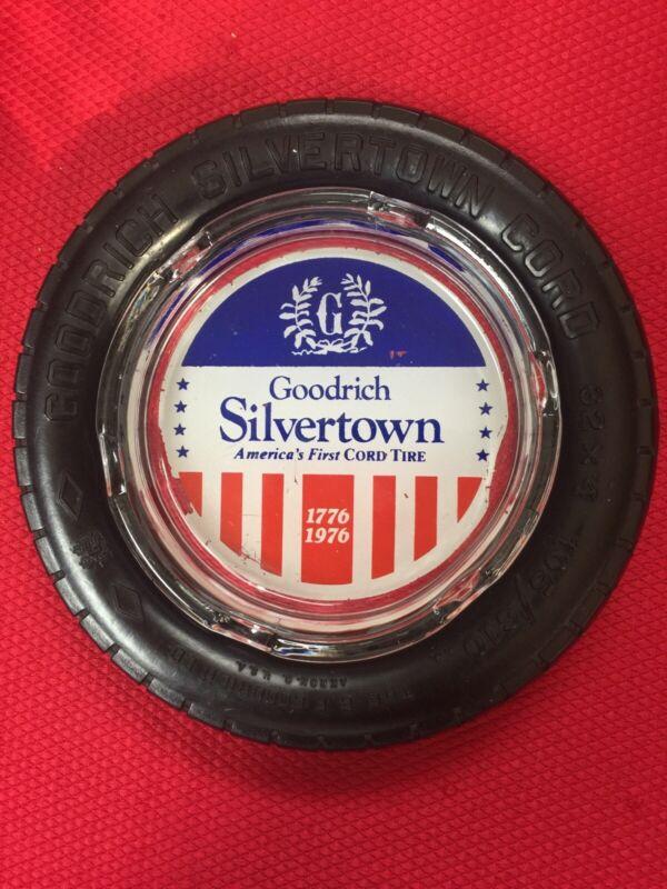 Goodrich Silvertown US Year Ann. Miniature Tire Advertising Glass Ash Tray
