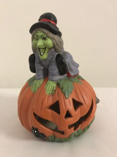 Vintage HALLOWEEN Witch Lighted Ceramic