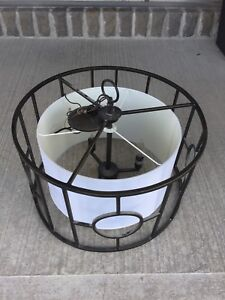 Large drum pendant light