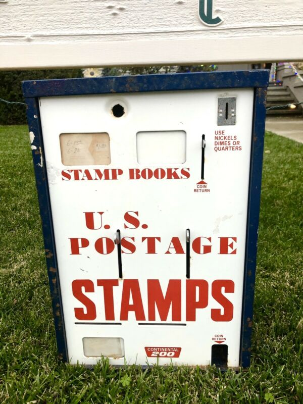 Vintage US Postage Continental 200 Stamp 3 Lever Coin Operated Vending Machine