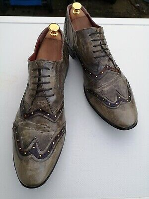 Mens JO GHOST 100% Leather, Taupe/Brown Lace up Brogues UK 10 (44).