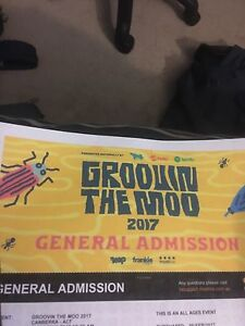 SELLING GROOVIN TICKET CANBERRA VERY CHEAP for sale  Thirroul