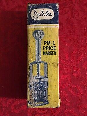 Vintage Ap Justrite Pm1 Price Marker Used Stamper Machine Retail Pricing