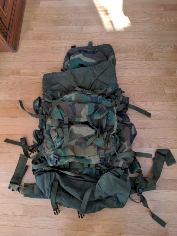 Military Field Pack, Large, With Internal Frame, Detachable Patrol Pack, CFP-90