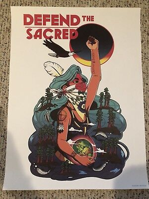 """""""DEFEND THE SACRED"""" 18x24 OFFICIAL AMPLIFIER.ORG ART PRINT POSTER WE THE PEOPLE!"""