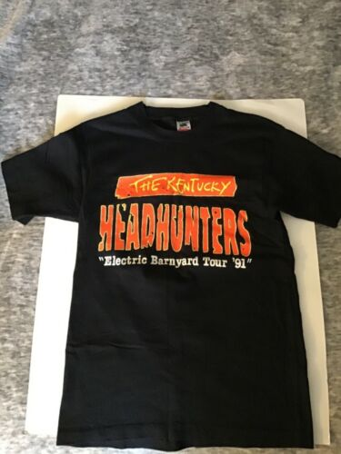 VTG. 90'S THE KENTUCKY HEADHUNTERS ELECTRIC BARNYARD TOUR T SHIRT M 100% COTTON