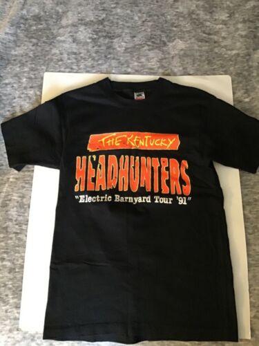 VTG. 90'S THE KENTUCKY HEADHUNTERS ELECTRIC BARNYARD TOUR T SHIRT M 100% COTTON