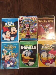 6 Disney Donald Duck/ Mickey Mouse Movie Dvds fillms