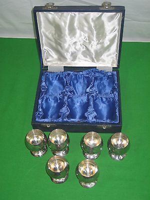 Brass Shot Glass Set - Pedestal Design Original Box Set of (Brass Set Pedestal)