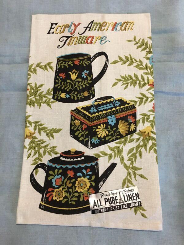 Vintage Parisian Prints Linen