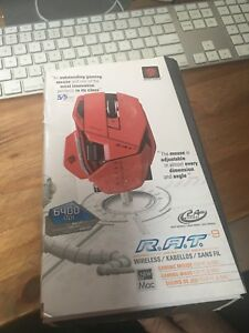 Mad Catz  R.A.T. 9. True 6400 dpi Gaming Mouse.  Red