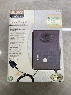 Hampton Bay 300w Watt Low Voltage 12v Or 14v Transformer Duskdawn 590 313