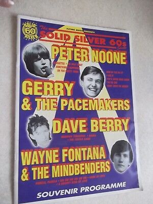 Solid Silver 60`s Gerry & The Pacemakers. Wayne Fontana etc. Souvenire Programme