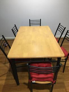 Dining Table and Chairs (6) FREE