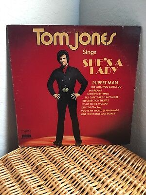 TOM JONES - SINGS SHE'S A LADY - LONDON/PARROT VG-LP VINYL REC. In Very Good Co.