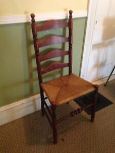 Nice Early Antique Ladder Back Chair In Great Condition
