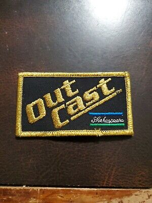 Vintage Outcast Patch Sportsman Fishing Rod Reel FREE SHIPPING