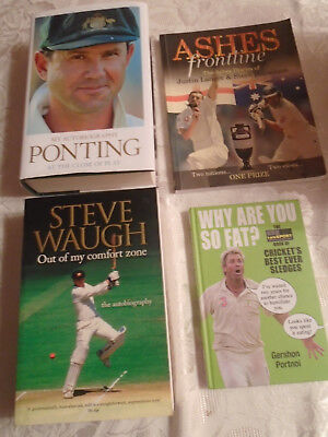 Collection of 23 cricket books, new or in excellent condition!
