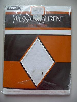 80er YVES SAINT LAURENT gemusterte Feinstrumpfhose II 40-42 Strumpfhose noir YSL