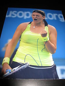 VICTORIA-AZARENKA-SIGNED-AUTOGRAPH-8x10-PHOTO-US-OPEN-ACTION-SHOT-TENNIS-AUTO-D