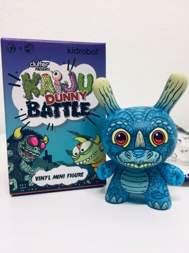 Kidrobot KAIJU DUNNY BATTLE Mini Series DUNNYCERATOPS Vinyl Figure James Groman