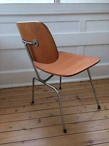 Mid Century Vintage Industrial Eames DCM Plywood Style Chairs x 4 Manly Manly Area Preview