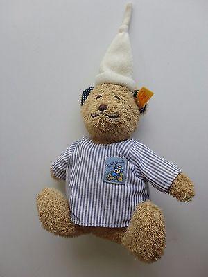 Steiff Kuscheltier Stofftier Bär mit Schlafmütze ca. 20 cm. 230257 Schlafbärle